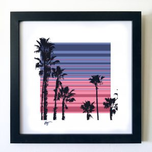 #OF1604 Palm trees 16x16 Frame