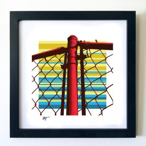 #OF1612 Red Fence 16x16 Frame