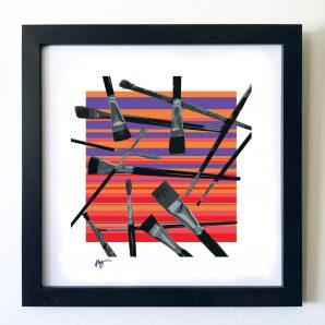 #OF1613 Brushes 16x16 Frame