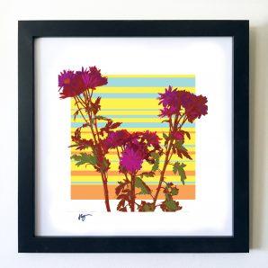 #OF1617 Wild Flowers 16x16 Frame-1