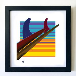 #OF1619 Two of single fins 16x16 Frame